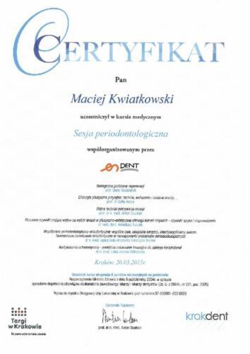 Prima-Dent Certyfikat-Maciej20