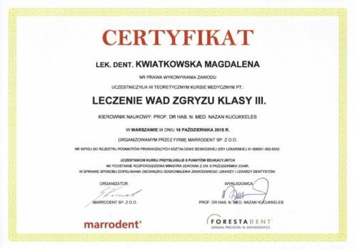 Prima-Dent Certyfikat-Magdalena23