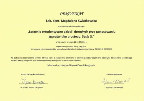 Prima-Dent Certyfikat-Magdalena33