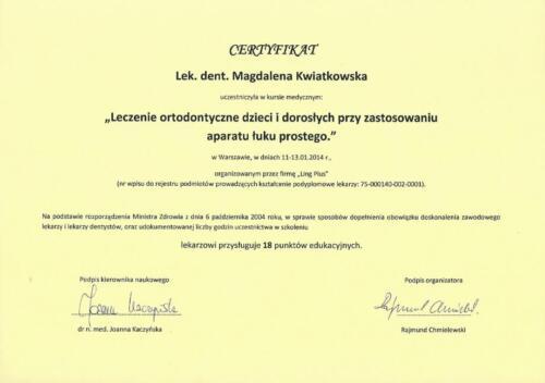 Prima-Dent Certyfikat-Magdalena34