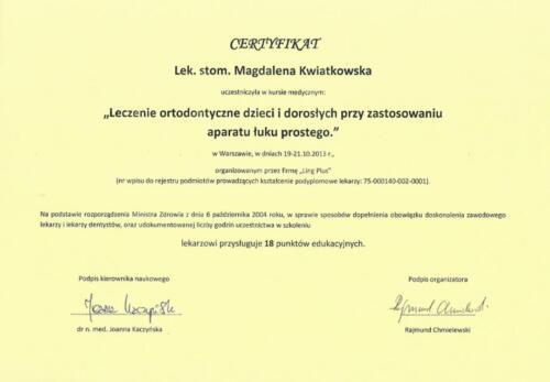Prima-Dent Certyfikat-Magdalena35