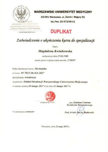 Prima-Dent Certyfikat-Magdalena38