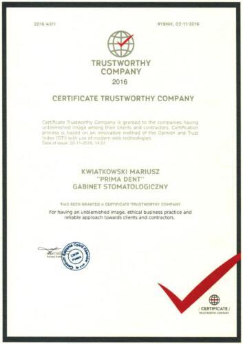 Prima-Dent Certyfikat-Mariusz02