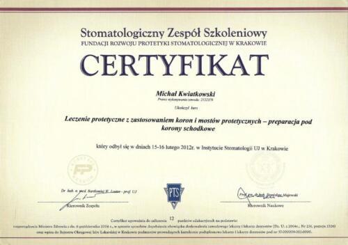 Prima-Dent Certyfikat-Michal01