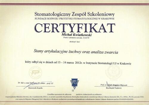Prima-Dent Certyfikat-Michal03