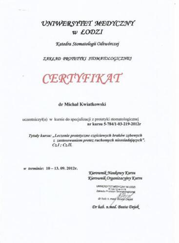 Prima-Dent Certyfikat-Michal04