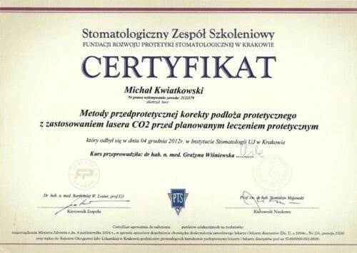Prima-Dent Certyfikat-Michal06