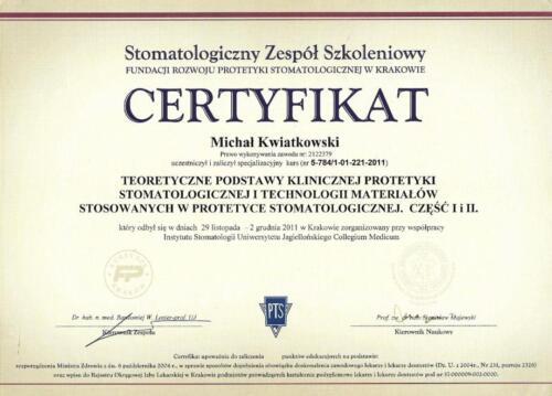 Prima-Dent Certyfikat-Michal09