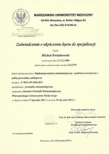 Prima-Dent Certyfikat-Michal10